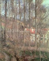 The Cote des Boeufs at LHermitage, Pontoise, 1877 (oil on canvas) wall mural thumbnail