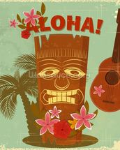 Hawaiian Music mural wallpaper thumbnail