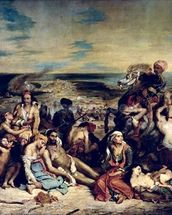 Scenes from the Massacre of Chios, 1822 (oil on canvas) wall mural thumbnail