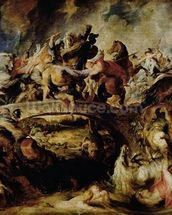 Battle of the Amazons and Greeks (detail), c.1617 (oil on panel) wall mural thumbnail