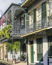 New Orleans French Quarter mural wallpaper thumbnail