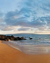 Hawaii, Maui, Makena, Secret Beach At Sunset 2 wallpaper mural thumbnail