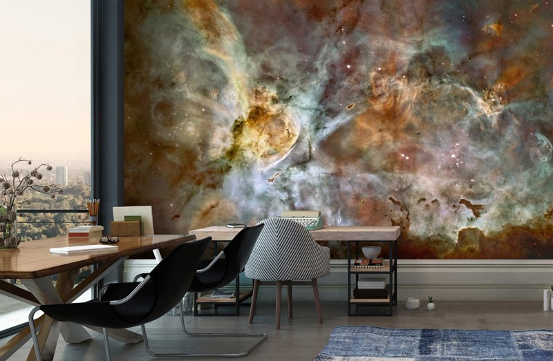 Nebula-space-wallpaper-in-office