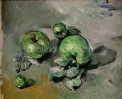 Green Apples, c.1872-73 (oil on canvas) wallpaper mural thumbnail