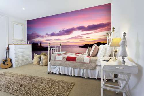sundown lighthouse bedroom mural