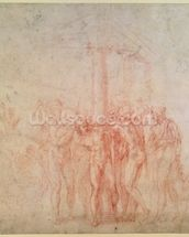 Inv. 1895 6-15-500. R. (W.15) The Flagellation of Christ (red chalk on paper) wall mural thumbnail