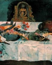 Still Life with Parrots, 1902 (oil on canvas) wallpaper mural thumbnail