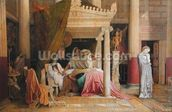 Antiochus and Stratonice, 1840 (oil on canvas) wallpaper mural thumbnail