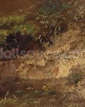 Undergrowth, c.1821 (oil on paper on board) wall mural thumbnail