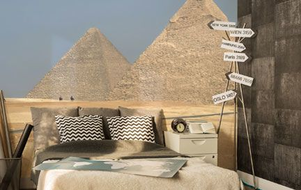Egypt wallpaper wall murals wallsauce for Egyptian wallpaper mural