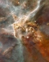 Star-Forming Region in the Carina Nebula: Detail 1 mural wallpaper thumbnail