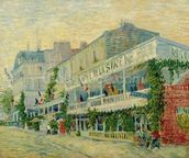 Restaurant de la Sirene at Asnieres, 1887 (oil on canvas) wallpaper mural thumbnail