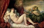 Danae, c.1554 (oil on canvas) wallpaper mural thumbnail