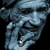 Keith Richards wallpaper mural thumbnail
