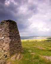 Cairn and Clouds mural wallpaper thumbnail