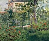 The Garden at Bellevue, 1880 (oil on canvas) wallpaper mural thumbnail