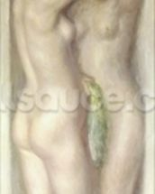Caryatids (oil on canvas) wallpaper mural thumbnail