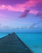 Sunset in the Maldives wall mural thumbnail