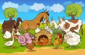 Farm Animals wall mural thumbnail