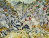 The ravine of the Peyroulets, 1889 (oil on canvas) wallpaper mural thumbnail