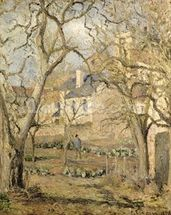 The Vegetable Garden, 1878 (oil on canvas) mural wallpaper thumbnail