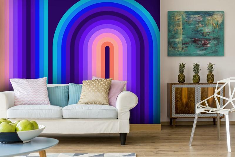 Retro Wallpaper For 60s And 70s Home Decor Wallsauce
