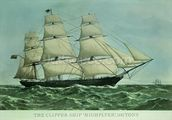 The Clipper ship Highflyer, 1111 tons (colour litho) wall mural thumbnail