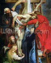 The Descent from the Cross, c.1614-15 (oil on canvas) wall mural thumbnail
