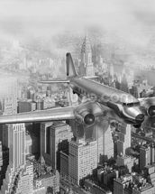 DC-3 Over NYC mural wallpaper thumbnail