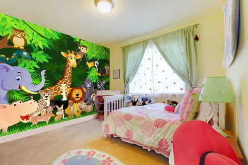 jungle mural for kids rooms