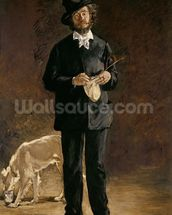 The Artist, or Portrait of Gilbert Marcellin Desboutin, 1875 (oil on canvas) mural wallpaper thumbnail