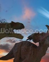 Dinosaurs Battle as the Comet Approaches wall mural thumbnail