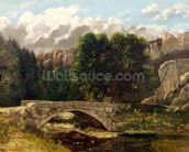 The Pont de Fleurie, Switzerland, 1873 (oil on canvas) wall mural thumbnail