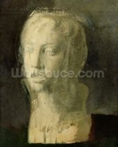 Study of the Head of a Young Singer, after Della Robbia, c.1856-58 (oil on canvas) mural wallpaper thumbnail