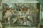 Sistine Chapel Ceiling: Noah After the Flood (pre restoration) mural wallpaper thumbnail