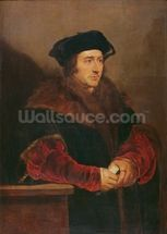 Portrait of Sir Thomas More (oil on canvas) wall mural thumbnail