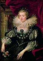 Portrait of Anne of Austria (1601-66) Infanta of Spain, Queen of France and Navarre (oil on canvas) mural wallpaper thumbnail