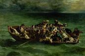 The Shipwreck of Don Juan, 1840 (oil on canvas) (see also 14443) wallpaper mural thumbnail