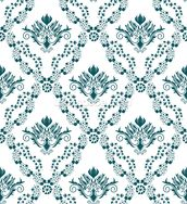 Damask - Green mural wallpaper thumbnail