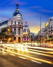 Madrid at Night mural wallpaper thumbnail