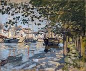 Seine at Rouen, 1872 (oil on canvas) mural wallpaper thumbnail