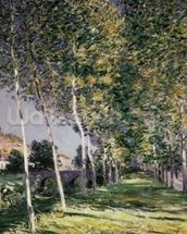 The Walk, 1890 (oil on canvas) mural wallpaper thumbnail