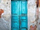 Old Blue Wooden Door wall mural thumbnail