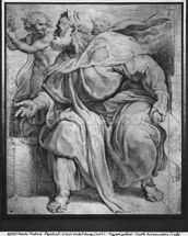 The Prophet Ezekiel, after Michangelo Buonarroti (pierre noire & red chalk on paper) mural wallpaper thumbnail