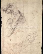 Male figure study (pencil on paper) wallpaper mural thumbnail