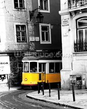 Tram in Colourwash mural wallpaper thumbnail