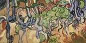 Tree roots, 1890 (oil on canvas) wall mural thumbnail