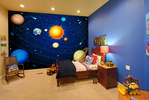 Superior Childrens Space And Planets Mural Part 20