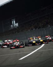 Start of the German Grand Prix 2011 wallpaper mural thumbnail