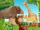 Jungle Animals wall mural thumbnail